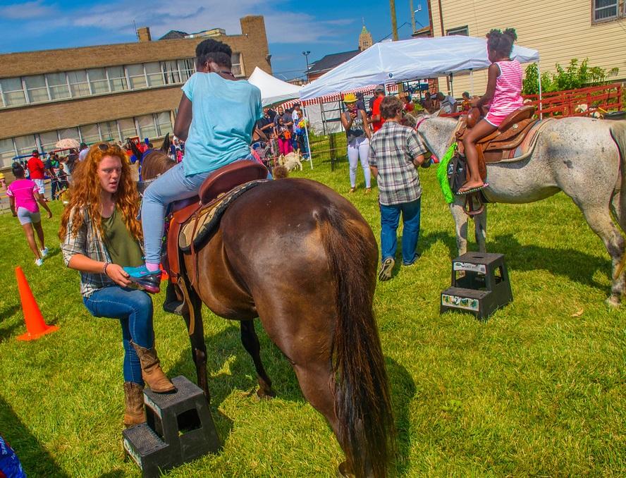 Centennial Block Party Horse Rides